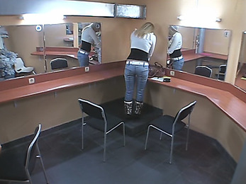 Provoking chick caught on cam!