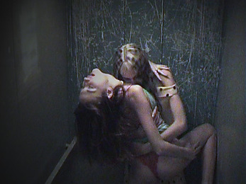 Hot lesbo fuck occasionally caught by security cam!
