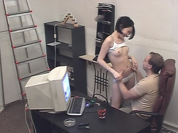 Wild fuck and suck session at work filmed!
