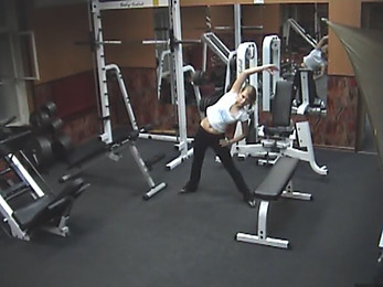 Delicious chick adores being nude when exercising!