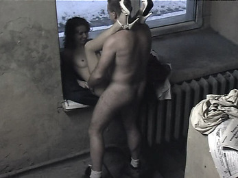 Steamy fuck session by the window!