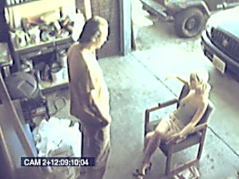 Lustful maid gets harshly banged and filmed by security cam!