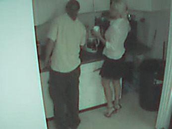 Blonde secretary wasted and filmed by security cam!