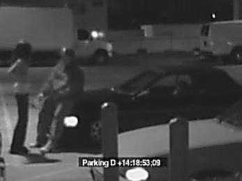 Gag inducing blowjob at the parking lot!