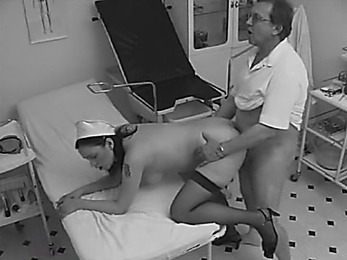 Slutty nurse sucking and fucking her patient!